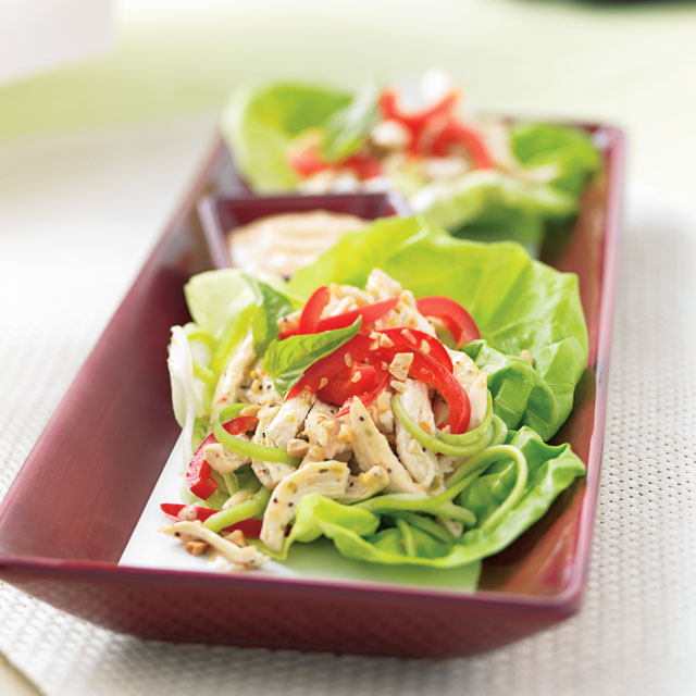 Thai Chicken & Lettuce Wraps