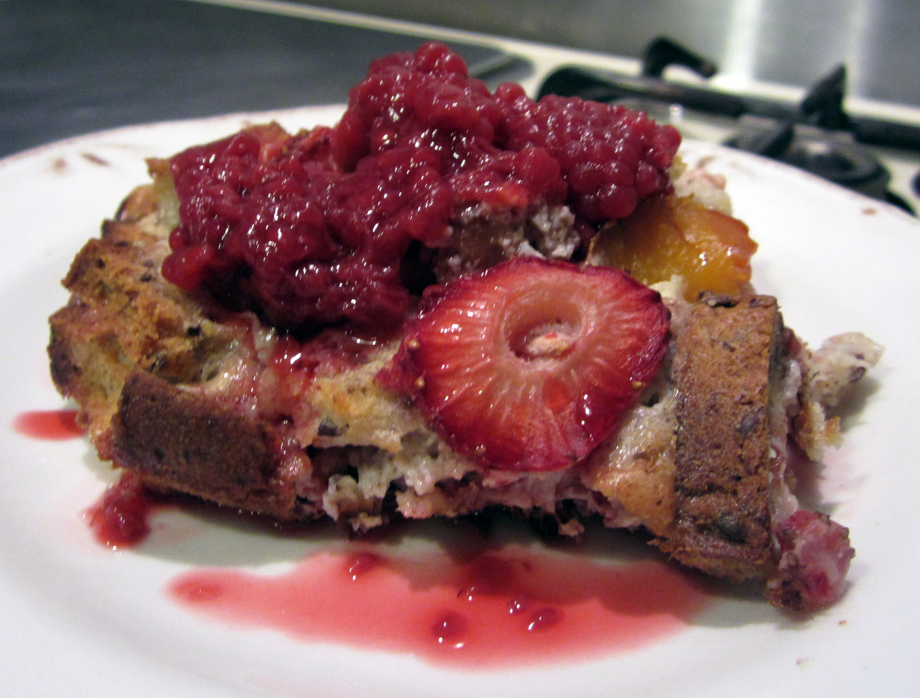 Fruity Breakfast Bread Pudding